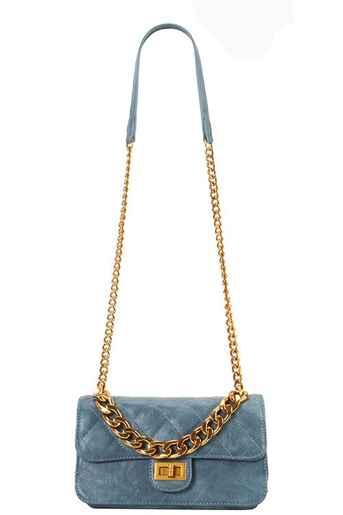 TEAL MESSENGER BAG - Cielo Blue LA