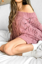ROSE AND CHILL  PINK SWEATER - Cielo Blue LA
