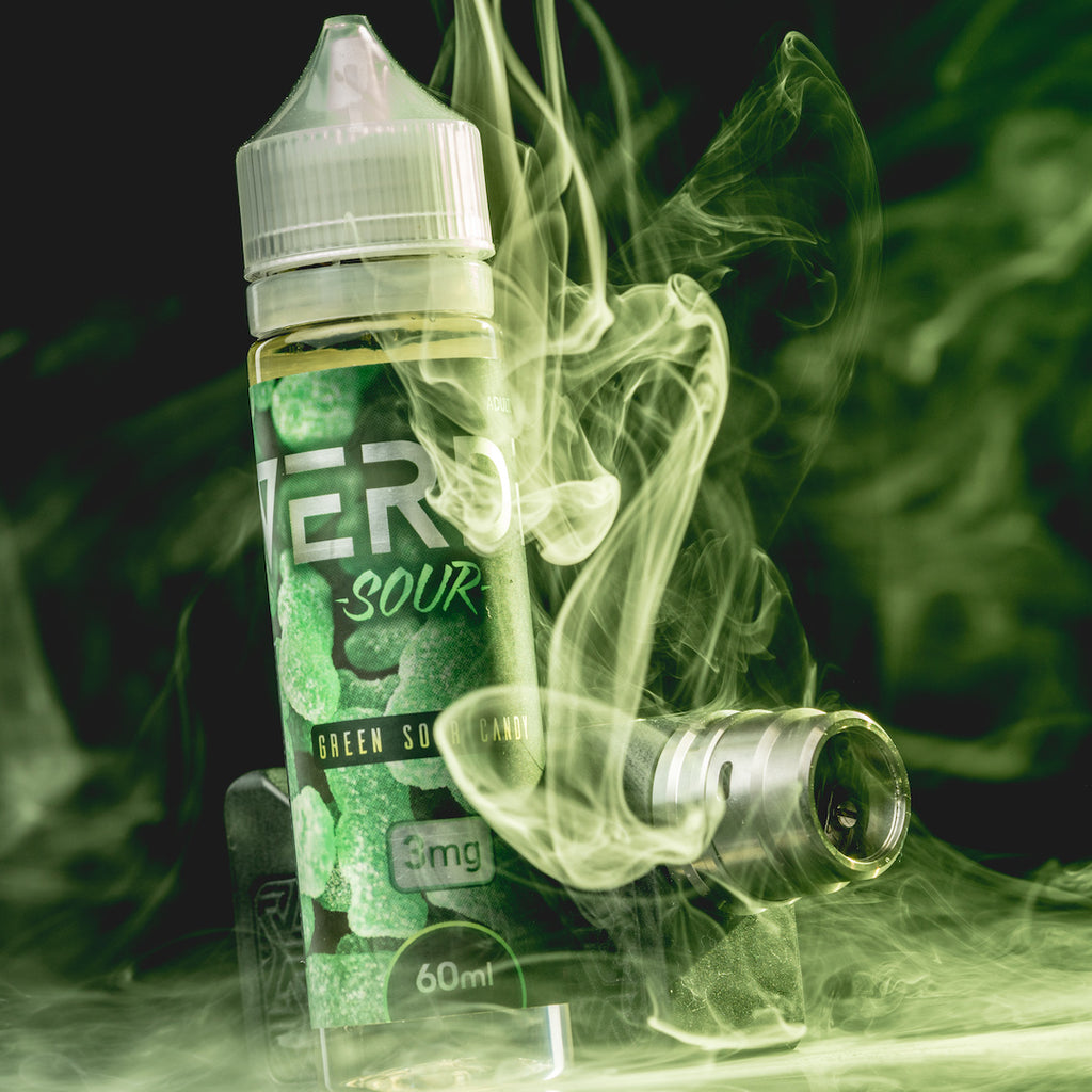 Verde Sour Green Lime Gummy Capitol Hill Premium Mod Battery Atomizer Vapor E-liquid