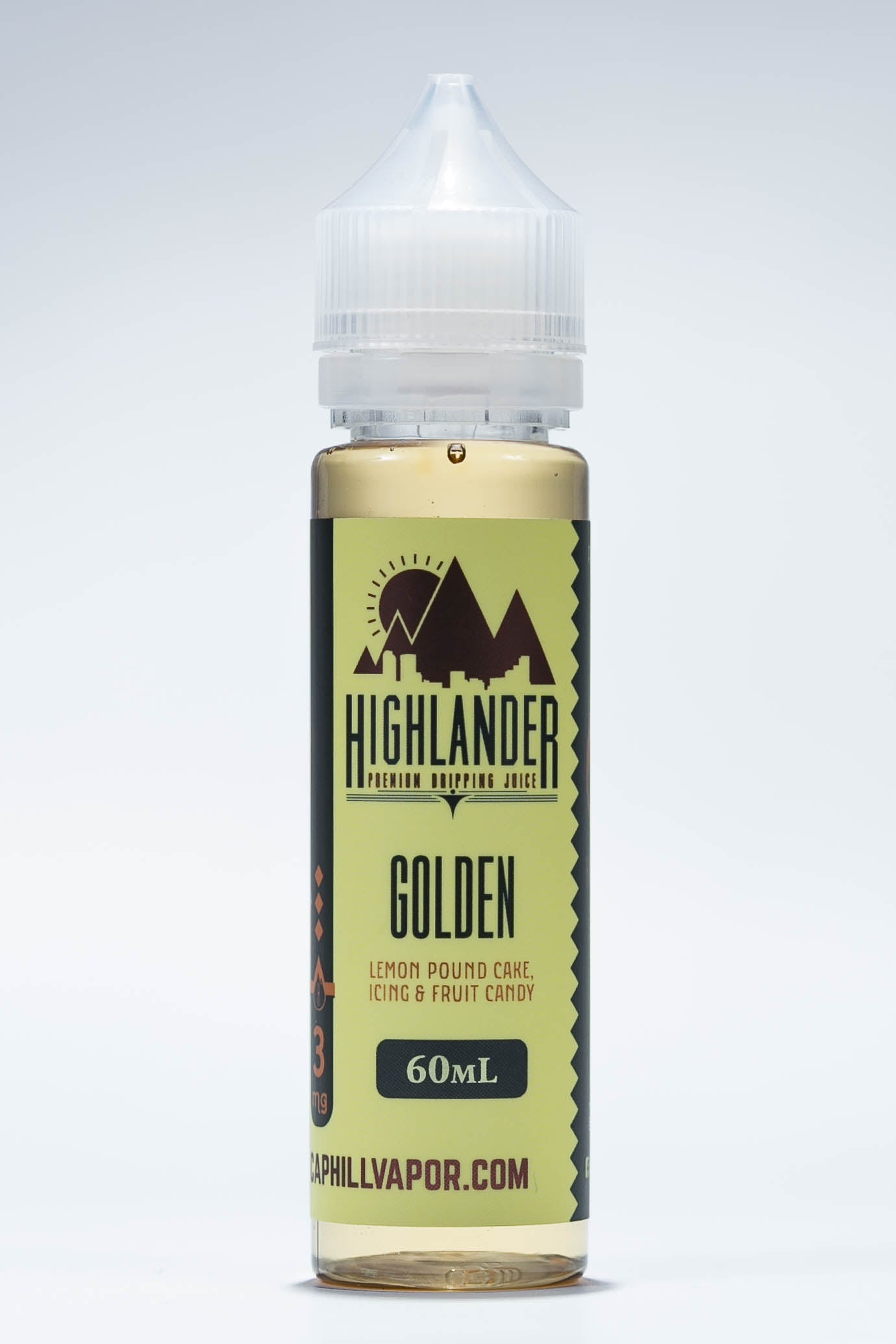 Golden Fruit Candy Iced Lemon Poundcake Highlander Dripping Juice Original E-liquid