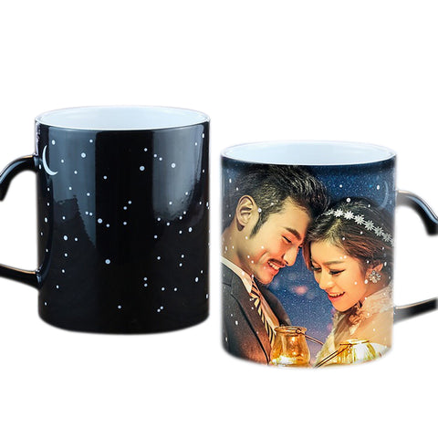 Custom Magic Photo Starry Sky Temperature Mug