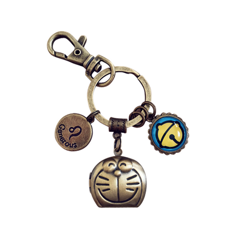 Custom Vintage Doraemon Zodiac Sign Key Chain