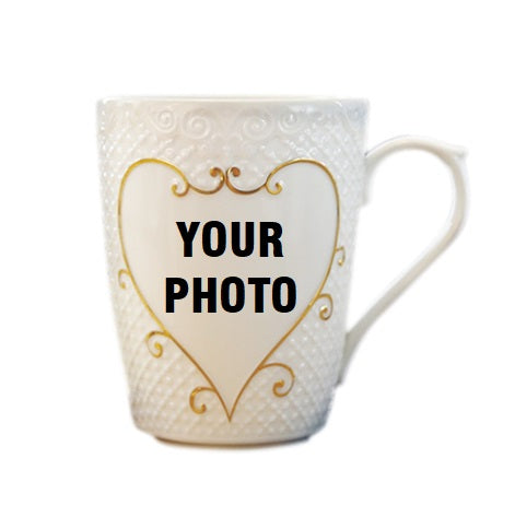 Custom Vintage Golden Edge Embossed Mug