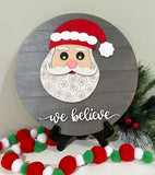 DIY Santa We Believe Sign Kit