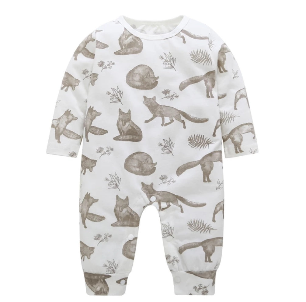 Woodland fox baby grow