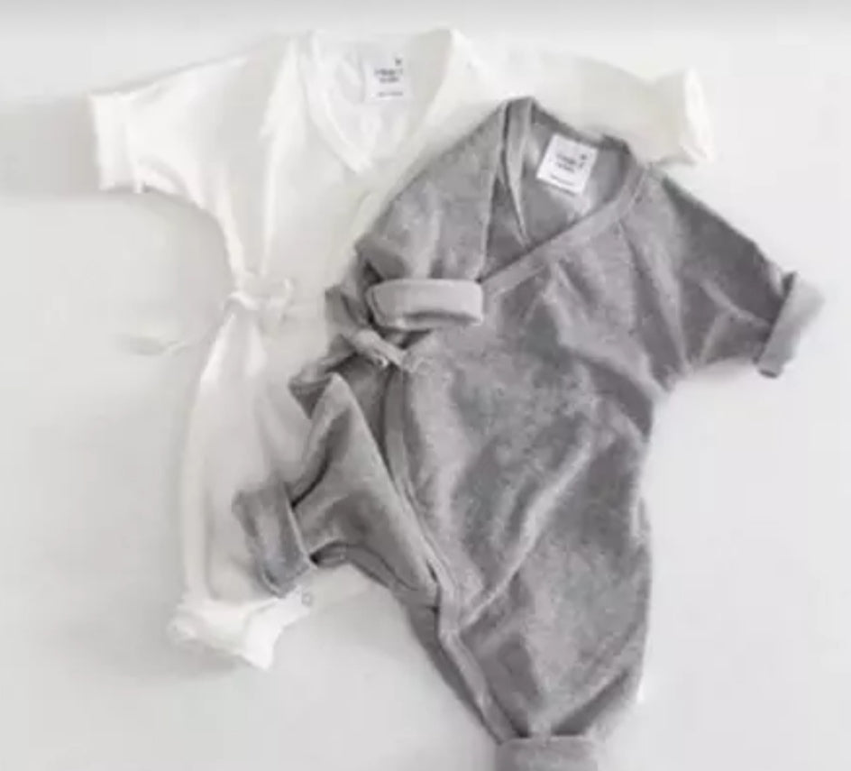 Wrap angel wing baby grow