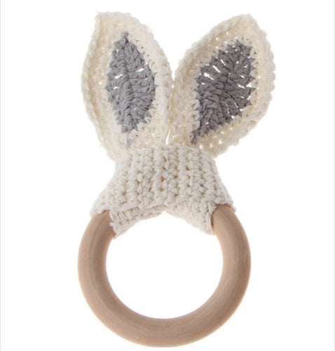 Crochet bunny ears (cream)