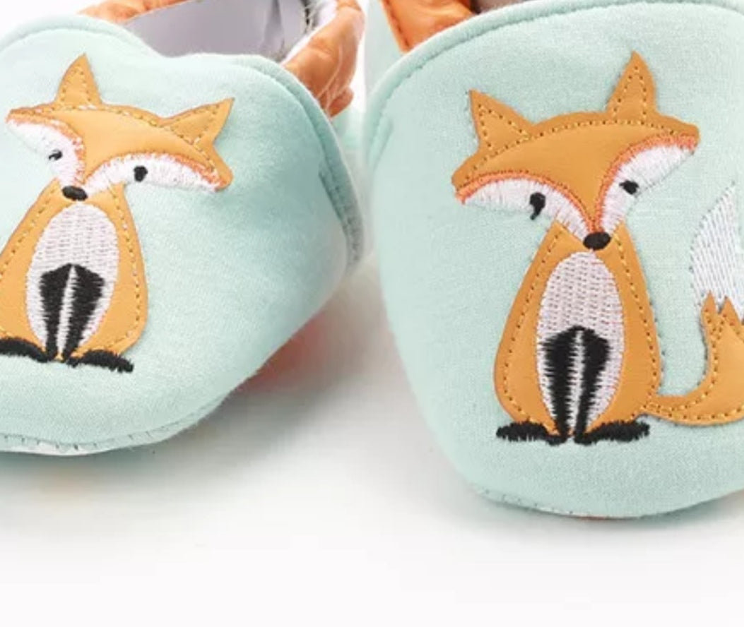 Fox slippers. 0-6 and 6-12 months