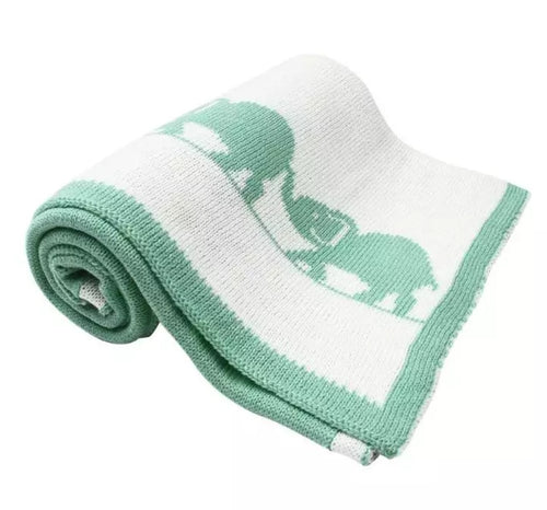 Reversable Elephant Blanket (Green)