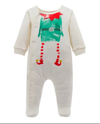 Christmas elf baby grow