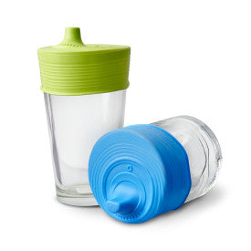 glasses with sippy cup toppers