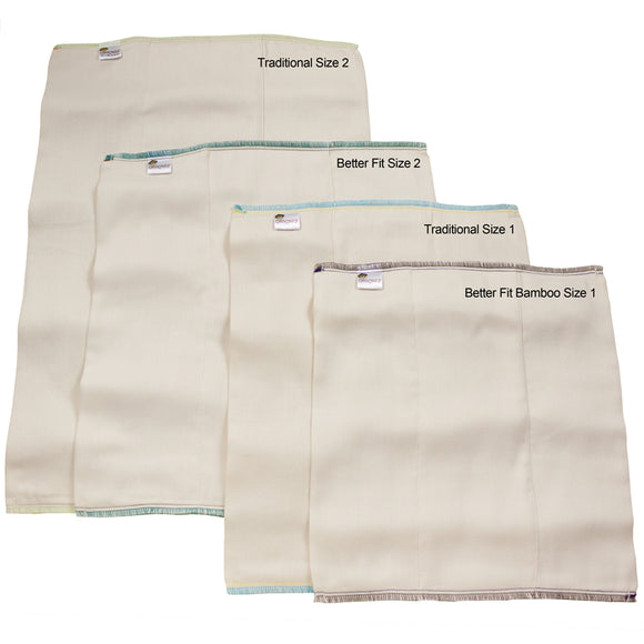 Bamboo / Organic Cotton Prefold Diapers