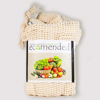 3 pack woven cotton reusable produce bags