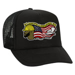 Classic Black Tradesmen U.S. Snapback Hat - ALL BLACK