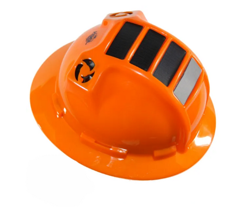 KOOLBREEZE SOLAR HARD HAT - ORANGE