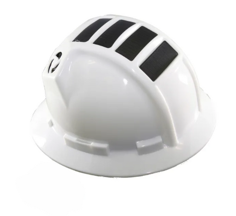 KOOLBREEZE SOLAR HARD HAT - WHITE