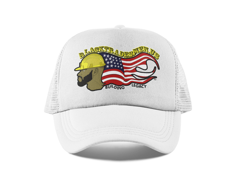 Painter's Black Tradesmen U.S. Hat - White