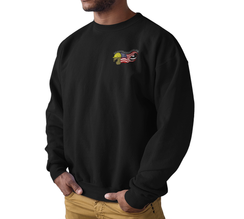 Black Tradesmen U.S. Crewneck Sweater - Black