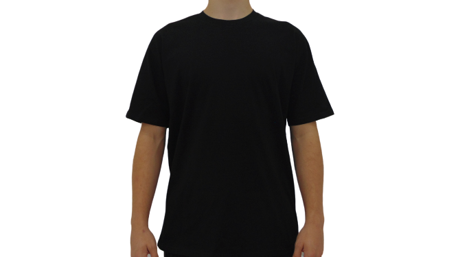 Features Apparel Black T-Shirt Front