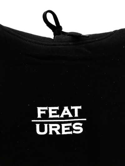 Features Apparel Hoodie Black Close Up