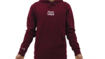 Features Apparel Hoodie Burgundy Front
