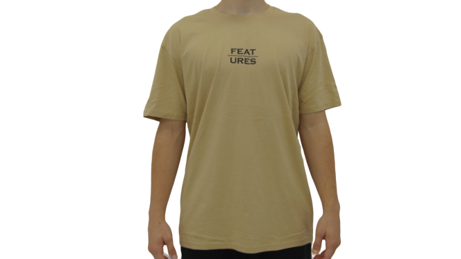 Features Apparel Logo T-Shirt Tan Front