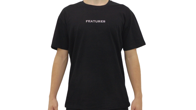 Features Apparel Staple T-Shirt Black Front