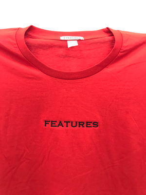Features Apparel Staple T-Shirt Red Close Up
