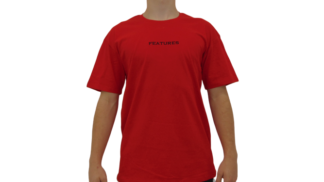Features Apparel Staple T-Shirt Red