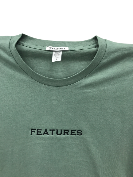 Features Apparel Staple T-Shirt Sage Close Up