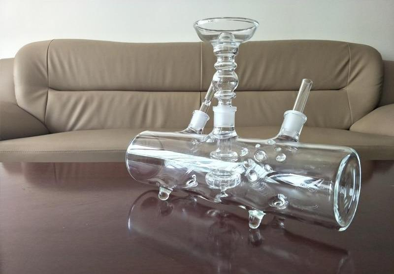 MP5 Glass tank Water Pipe / Hookah - Antisocial Smoke Society