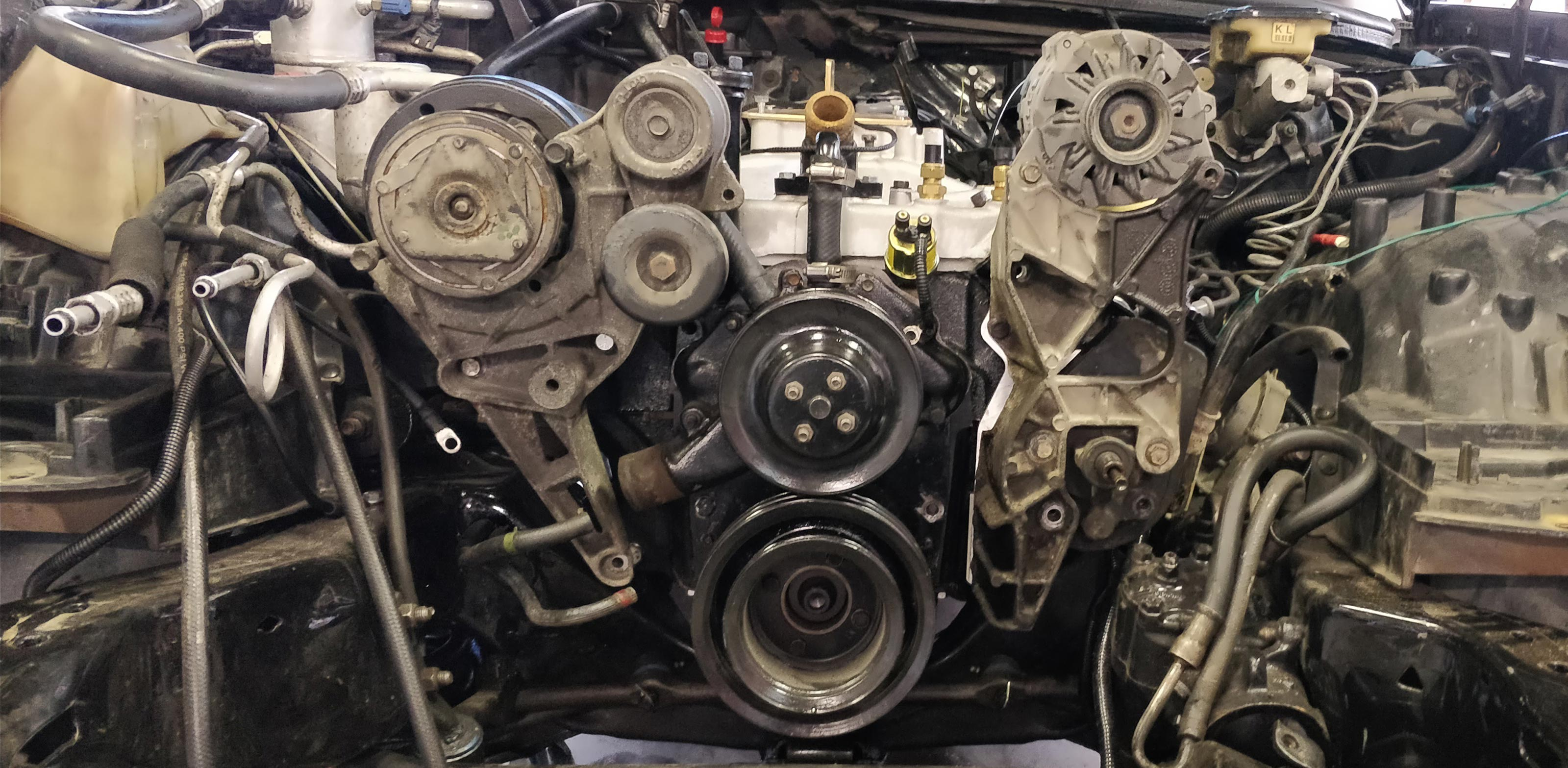 Converting Your Oldsmobile 455425403350307 To A Later Model GM. Serpentine Adapter Kit For Oldsmobile Engines. Wiring. 455 Olds Engine Belt Diagram At Scoala.co