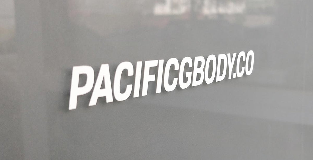 Pacific GBody Co. Horizontal Sticker