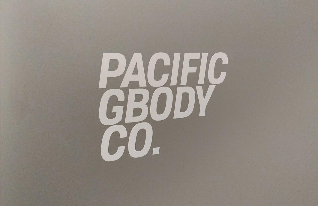 Pacific GBody Co. Vertical Sticker