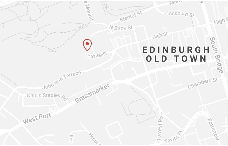 Map of Edinburgh, Maggie Mowbray Millinery stockists