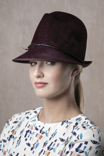 Ladies Trilby 'Murni' - Maggie Mowbray Millinery