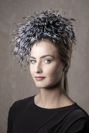 Feathered Headpiece 'Victoria' - Maggie Mowbray Millinery