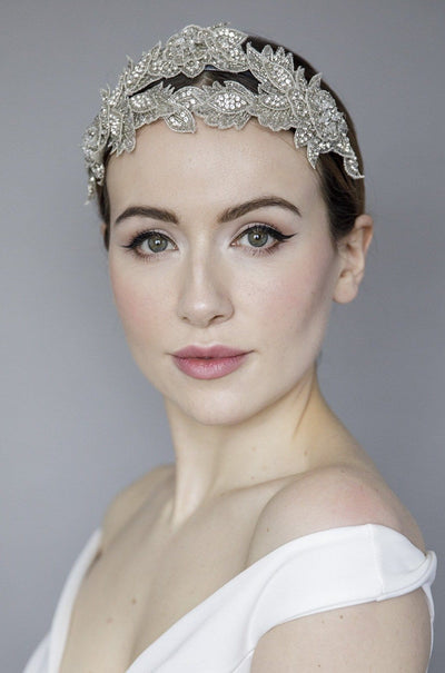 Double Diamanté Tiara - Grace