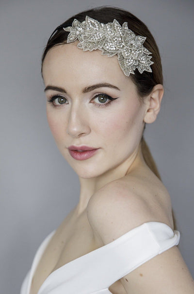 Beaded Wedding Headpiece - Hope - Maggie Mowbray Millinery