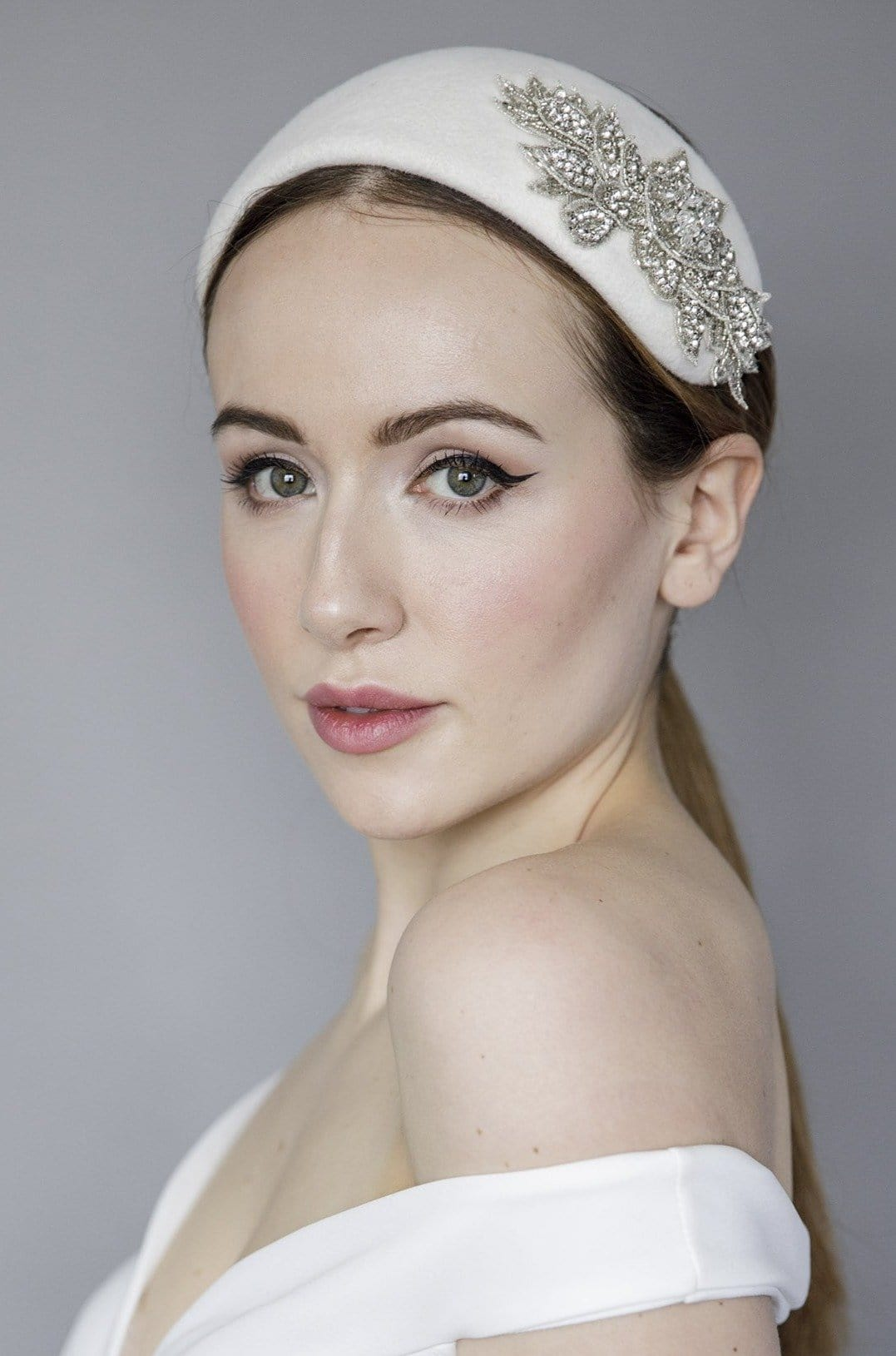 Felt Wedding Headband - Elanor - Maggie Mowbray Millinery