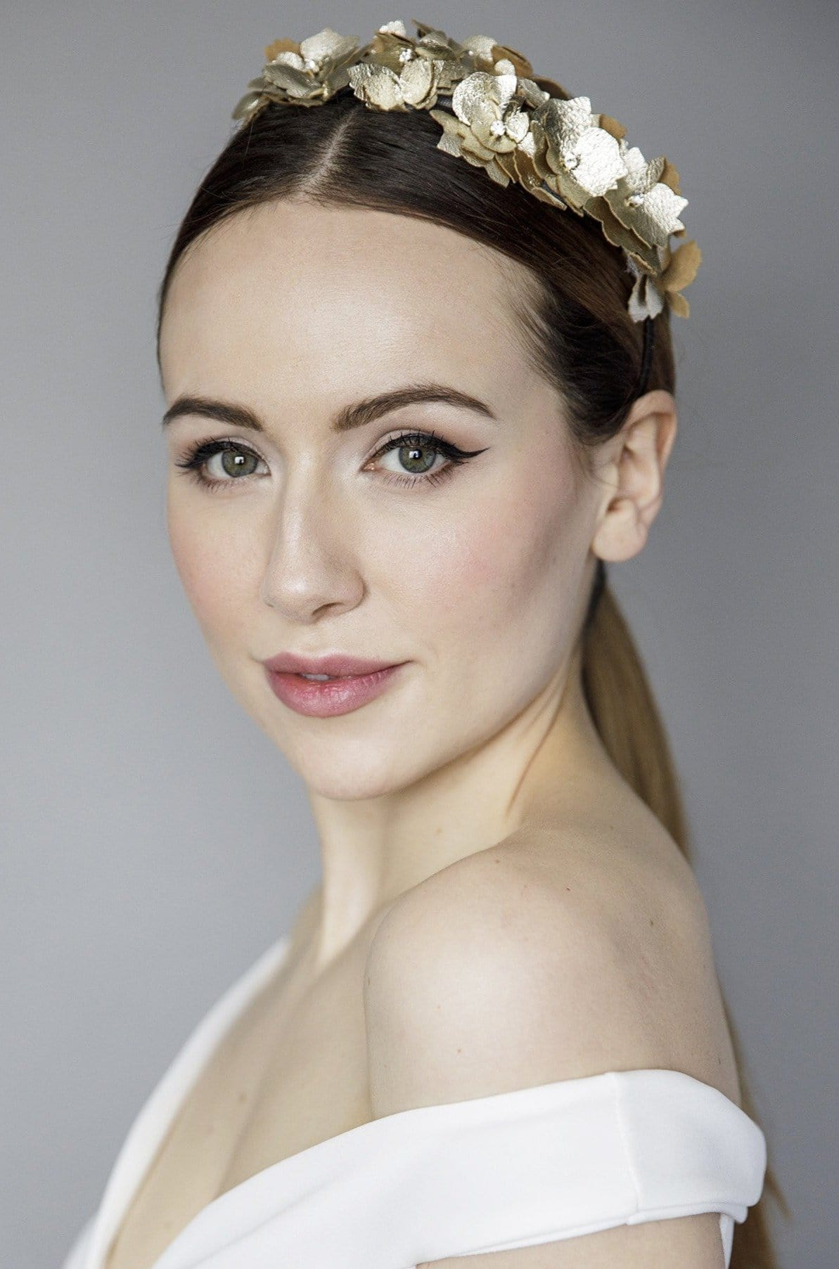 Gold Flower Headband - Maggie Mowbray Millinery
