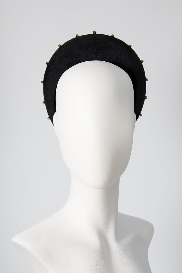 mary queen of scots halo with gold beading