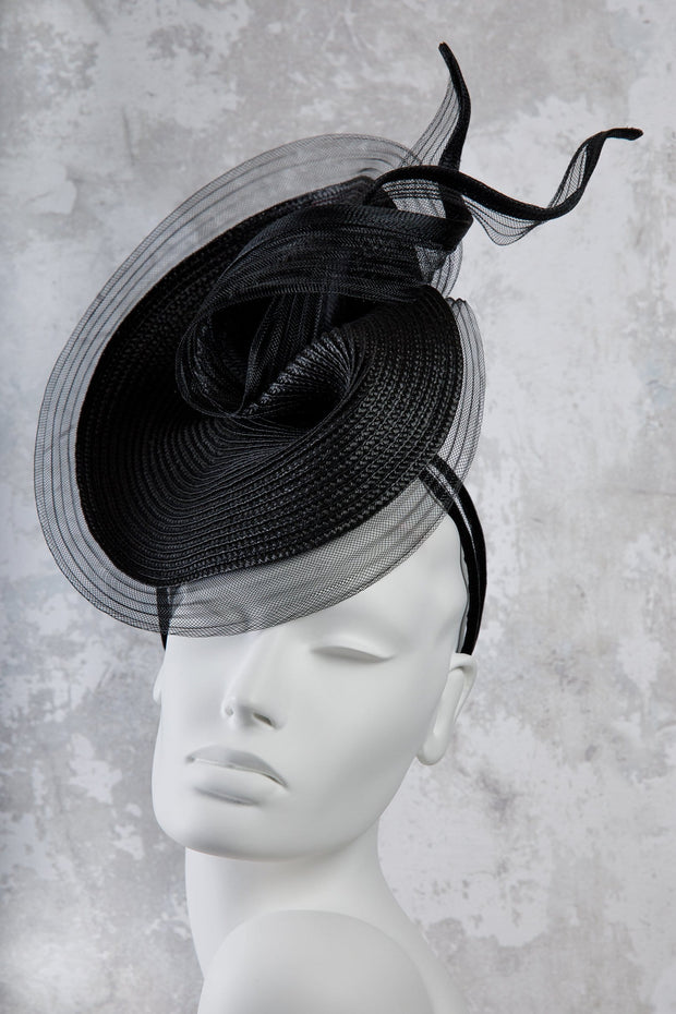 Sisal Straw Statement Hat - Sylvie - Maggie Mowbray Millinery