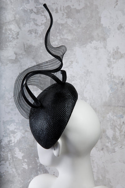 Percher Hat with Crin Twist - Evgenia - Maggie Mowbray Millinery