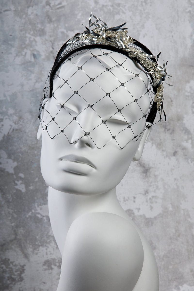 Beaded Crin Headband - Ninette - Maggie Mowbray Millinery