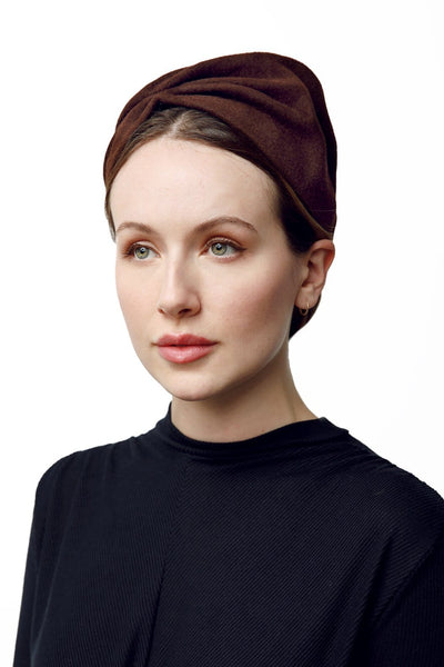 A felt turban hat by Maggie Mowbray Millinery