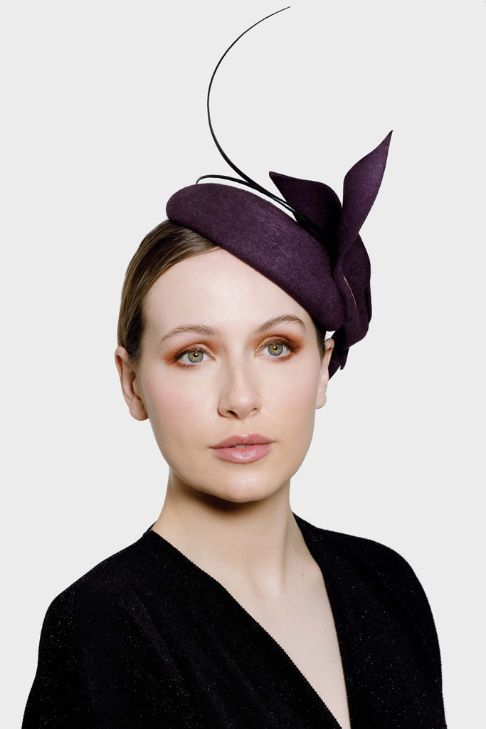 Beret Style Cocktail Hat - Daphne - Maggie Mowbray Millinery