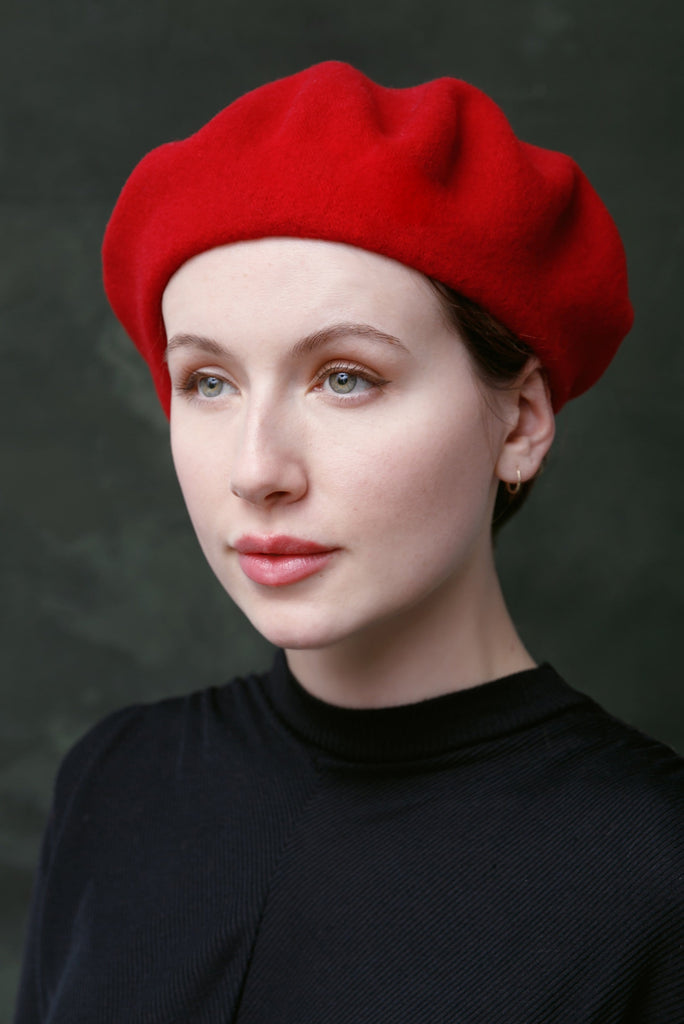 Pure Wool Beret - Maggie Mowbray Millinery