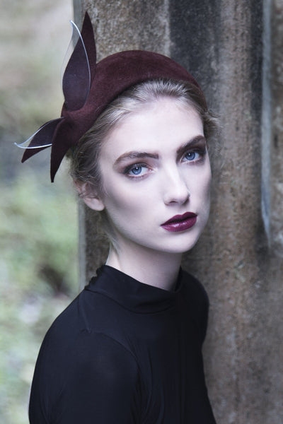 Headband Fascinator - Ais - Maggie Mowbray Millinery