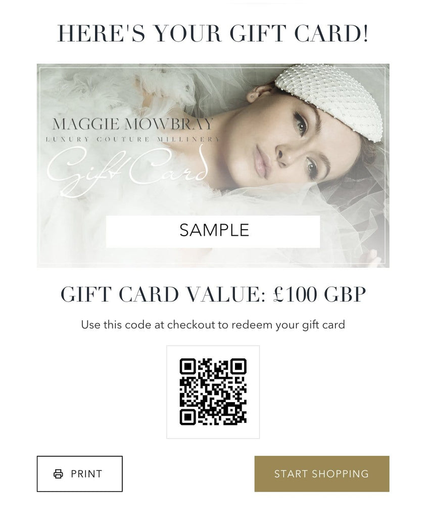 Gift Card - Maggie Mowbray Millinery
